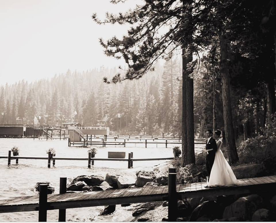 Couple on Dock - Photo by Kreative Stories - Stephanie Marie & Co. wedding planner Lake Tahoe
