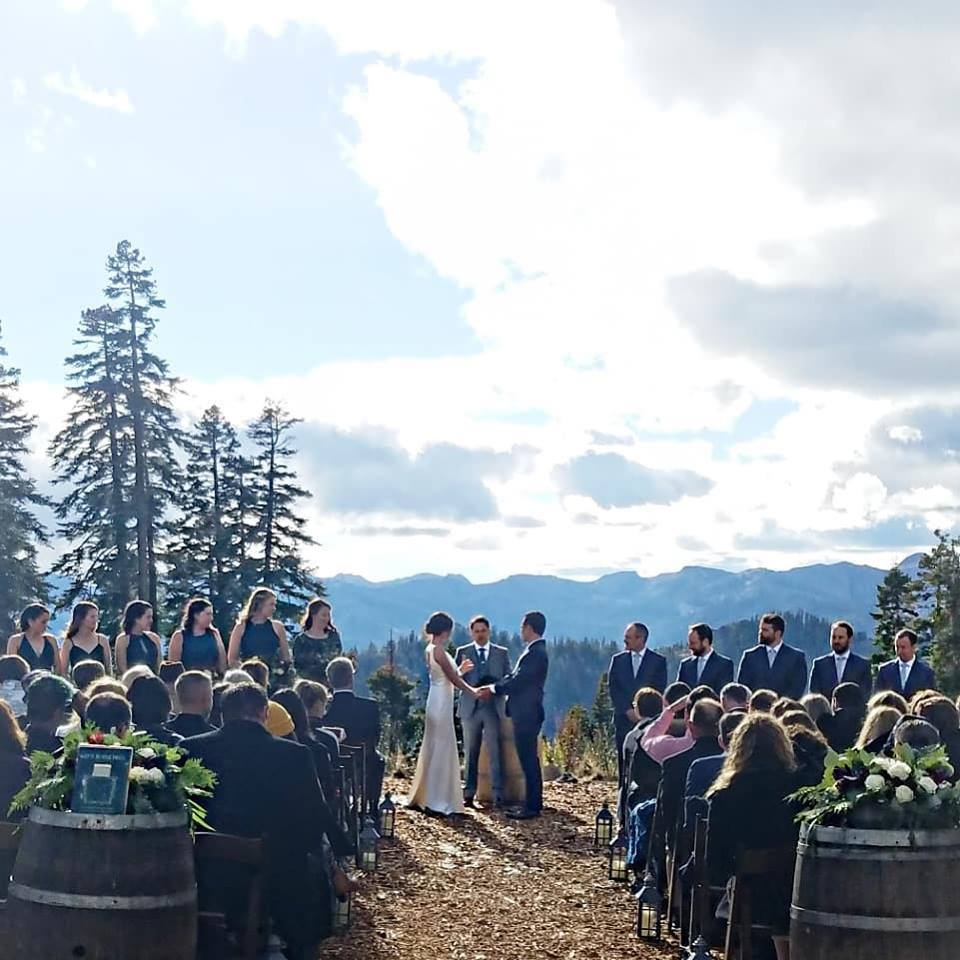 Northstar Zephyr Lodge ceremony - Stephanie Marie & Co. wedding planner Lake Tahoe
