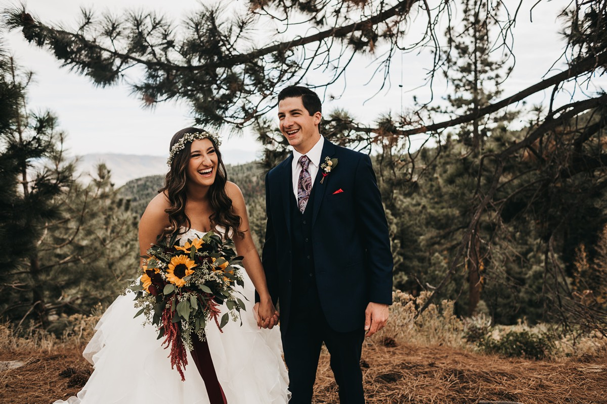 Tannenbaum by Roundabout Lake Tahoe wedding - couple