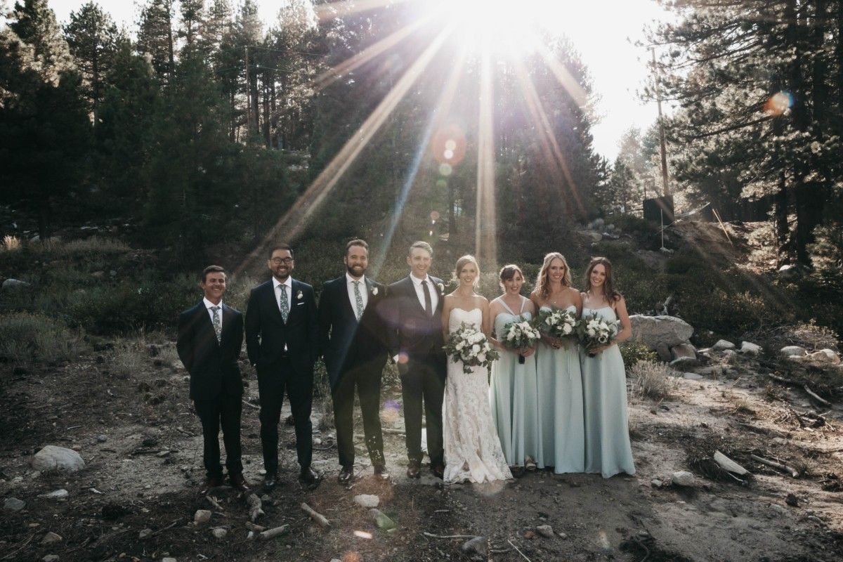 Tannenbaum by Roundabout Lake Tahoe wedding - wedding party