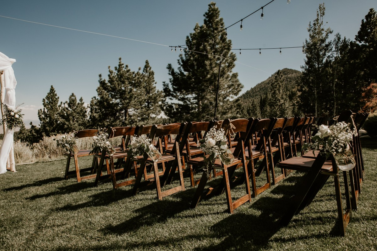 Tannenbaum by Roundabout Lake Tahoe wedding - ceremony chairs