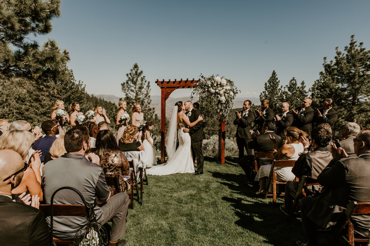 Tannenbaum by Roundabout Lake Tahoe wedding - ceremony