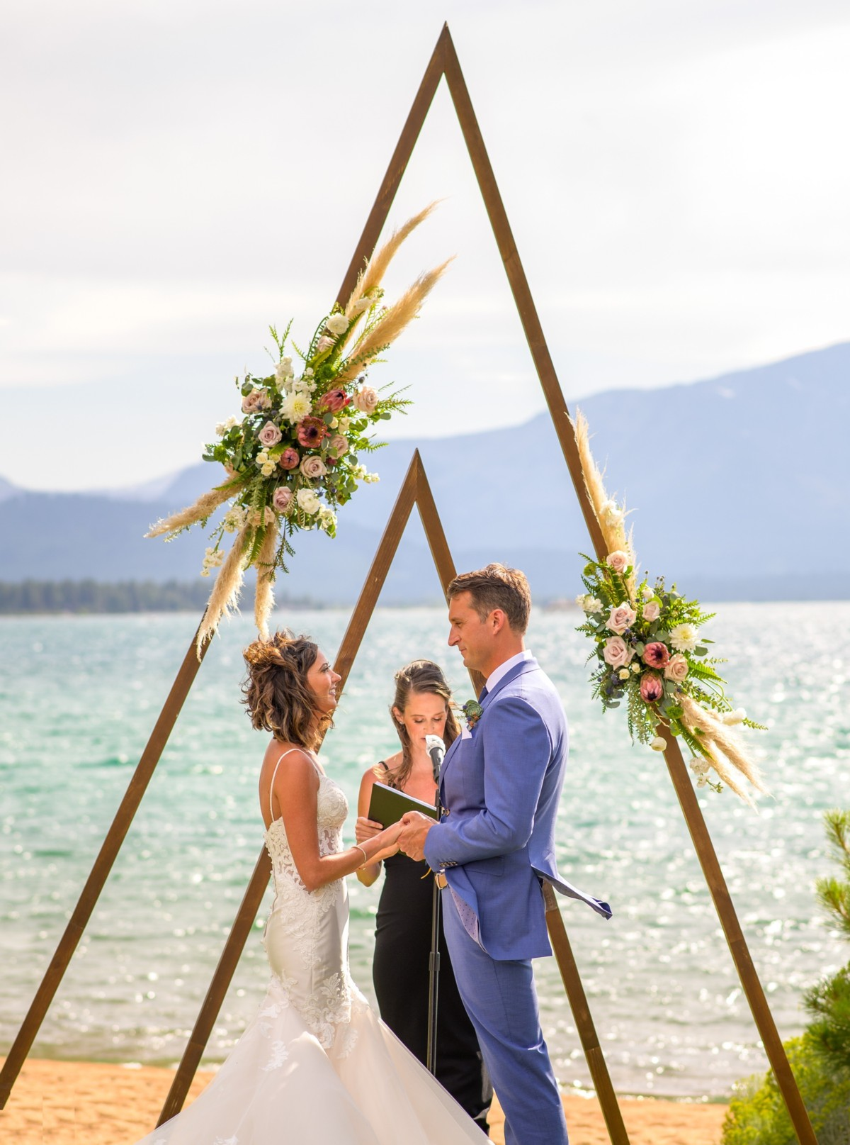Lake Tahoe florist Create with T - wedding ceremony structure - Blue Lotus Photography