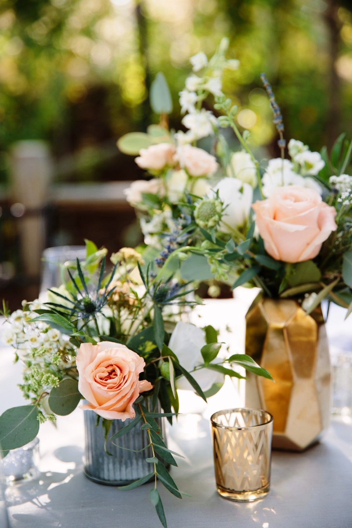 Lake Tahoe florist Create with T - reception table centerpiece