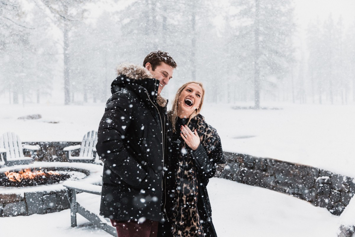 Surprise Proposal Winter Lake Tahoe outdoors