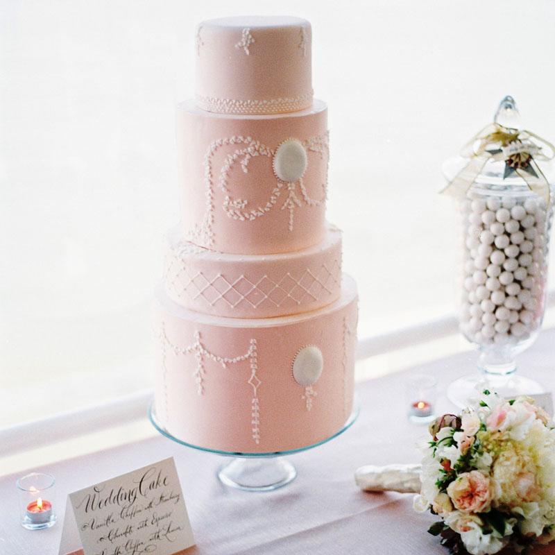 wedding cake and dessert treats