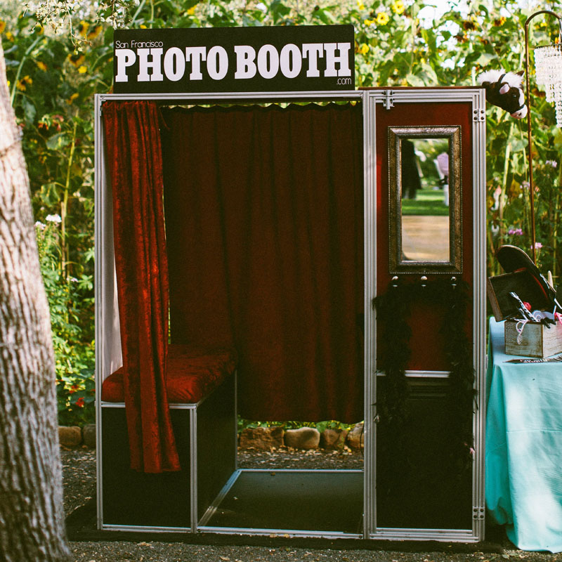 photo booth used at a wedding