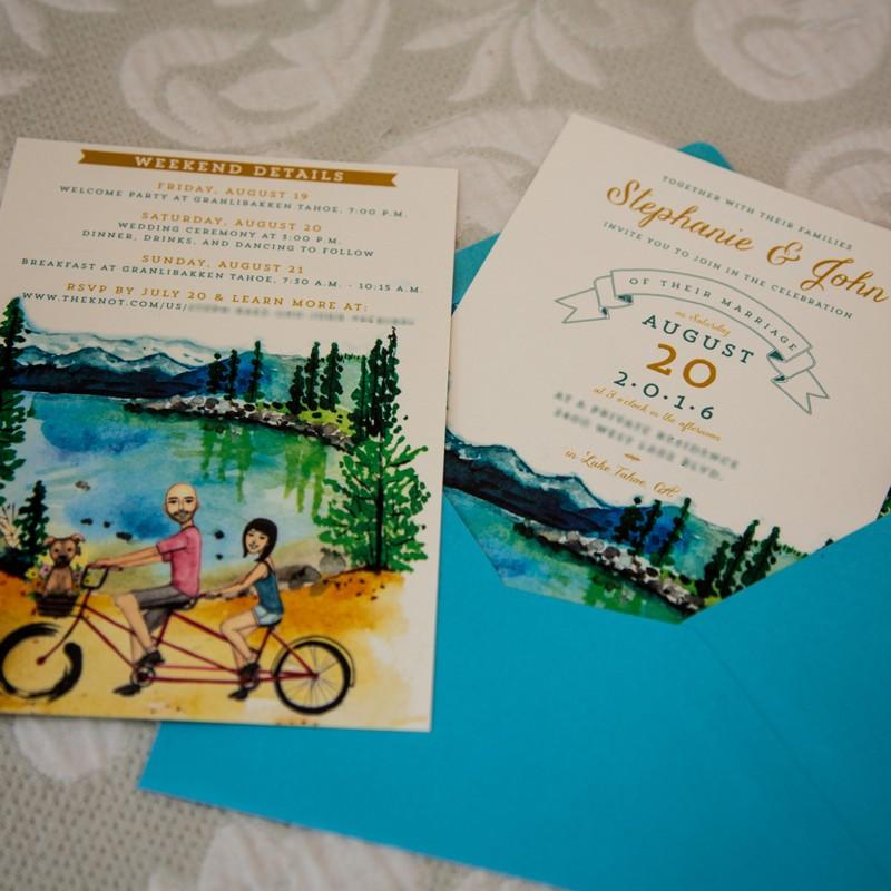 lake tahoe wedding stationery vendors