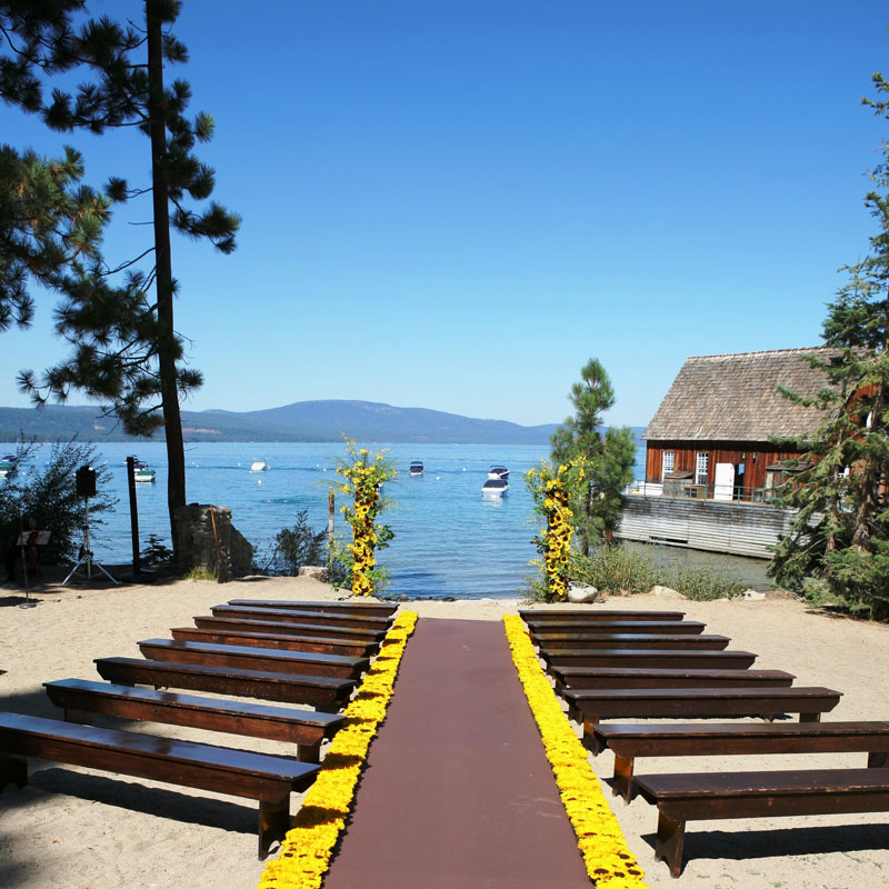 wedding site Lake Tahoe California