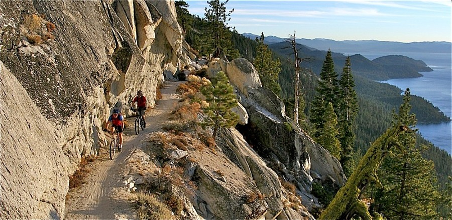 Bicycle the Flume Trail Lake Tahoe