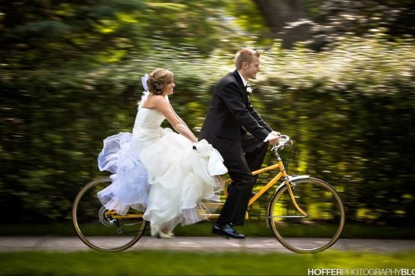 Couple on bike - Hoffer Photography