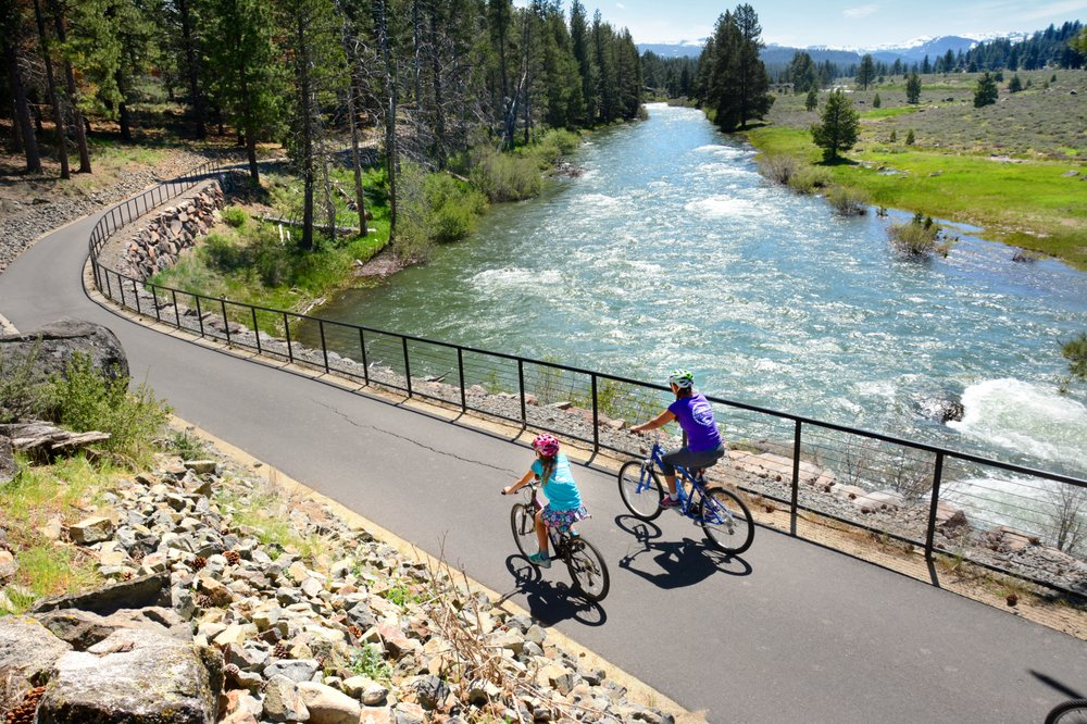 Legacy Trail biking Truckee River Lake Tahoe