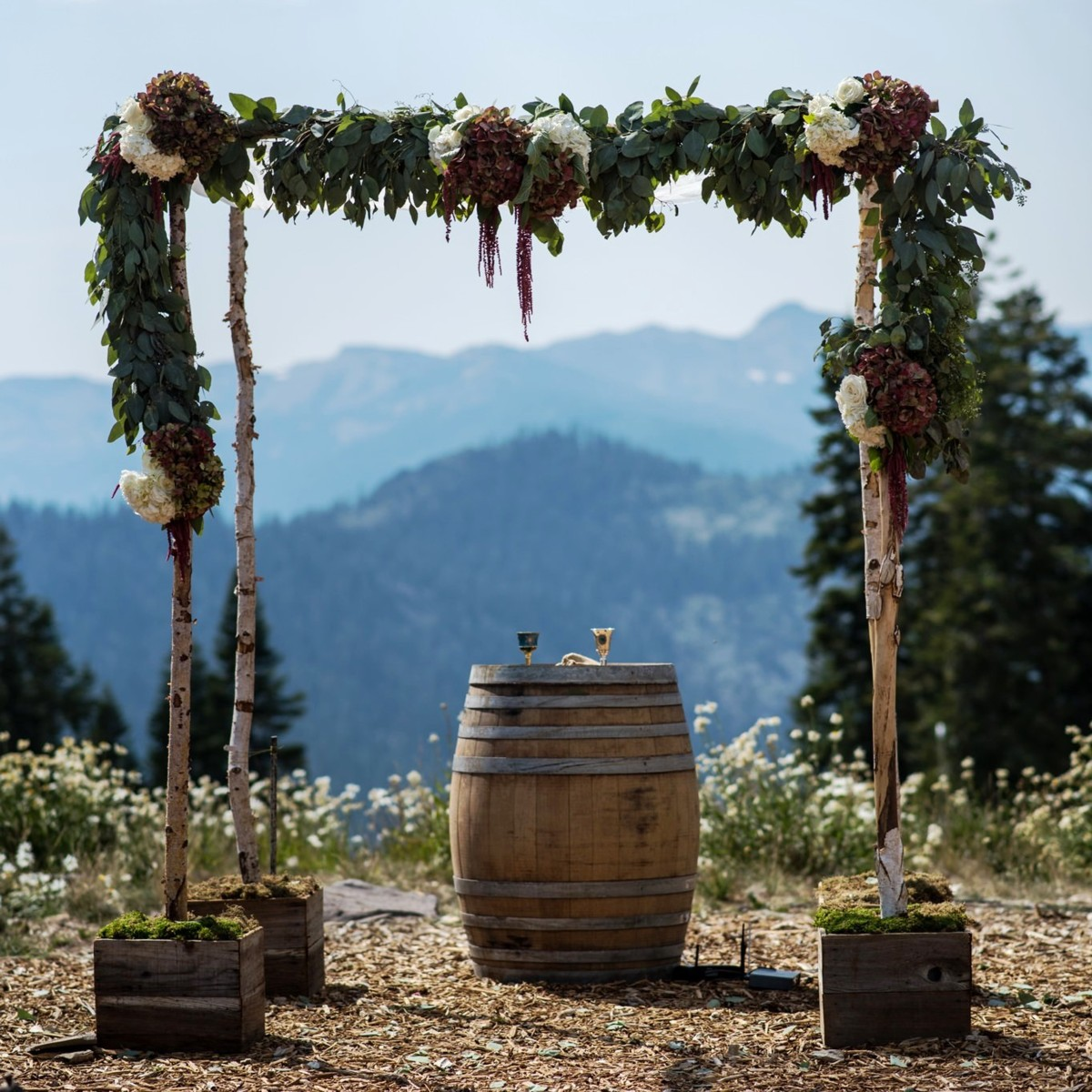 Northstar California Lake Tahoe wedding chuppah