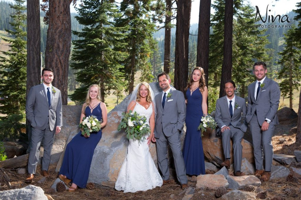 Wedding Party in Forest Ritz-Carlton Lake Tahoe