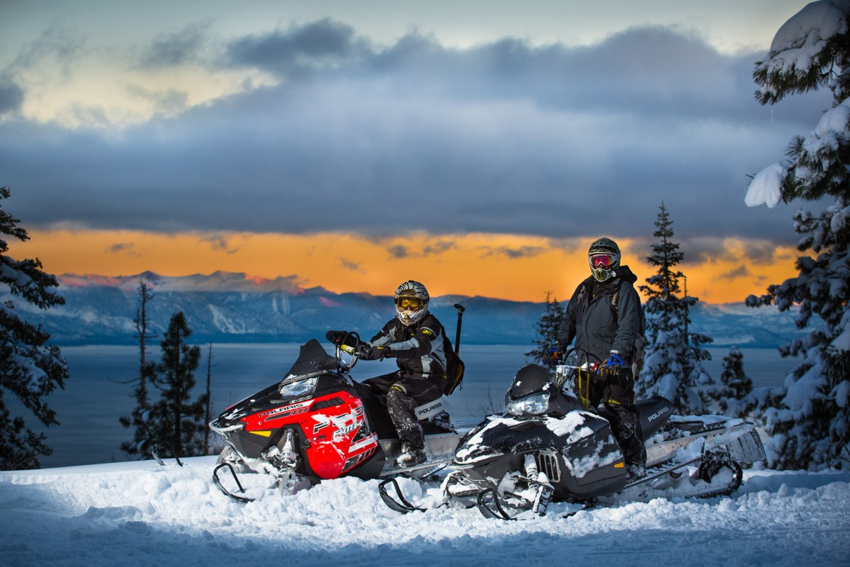 Snowmobiling Lake Tahoe wedding activity