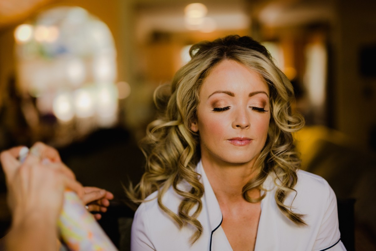 Bride hair and makeup from Love Is In The Hair Lake Tahoe wedding