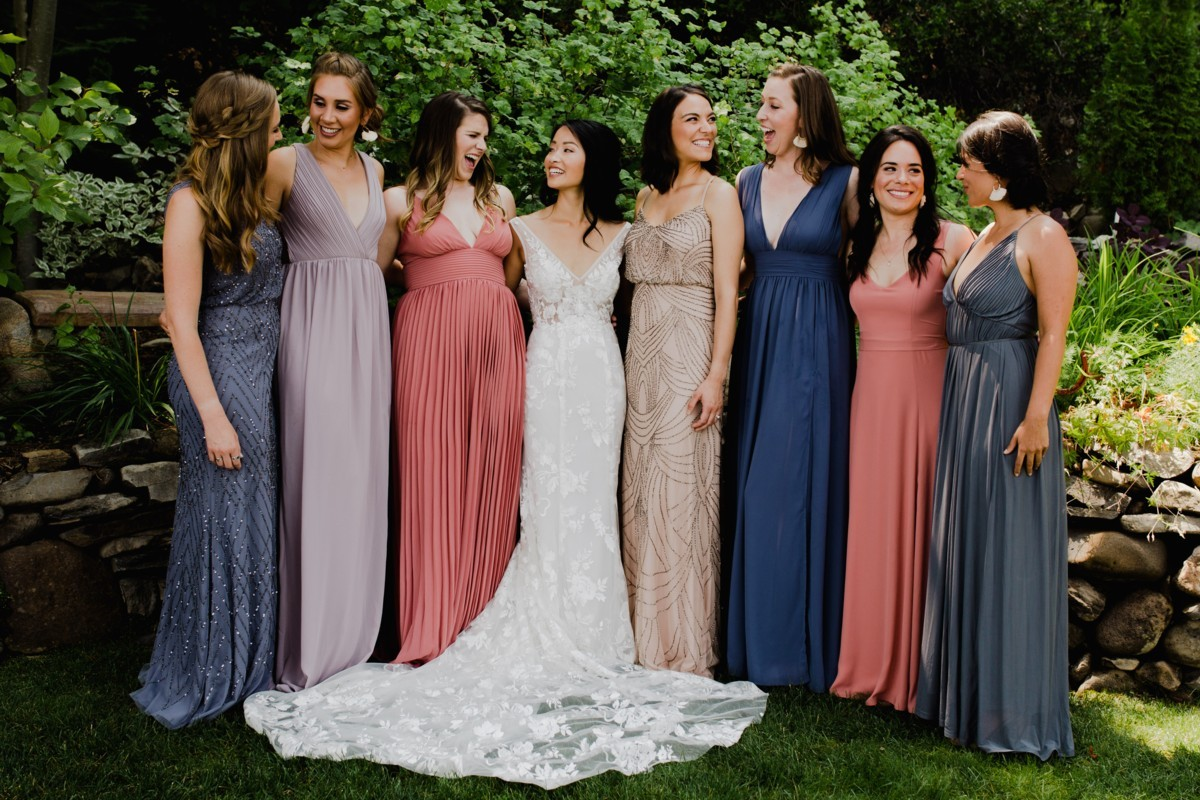 The Bridal Party After Hair & Makeup for Love Is In The Hair Lake Tahoe wedding