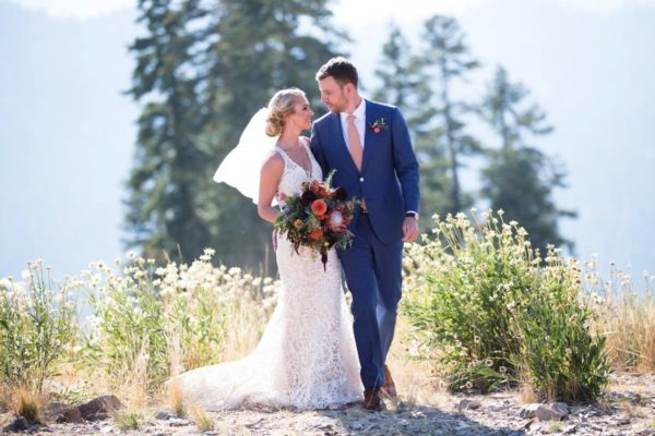 Couple at Northstar California Lake Tahoe wedding