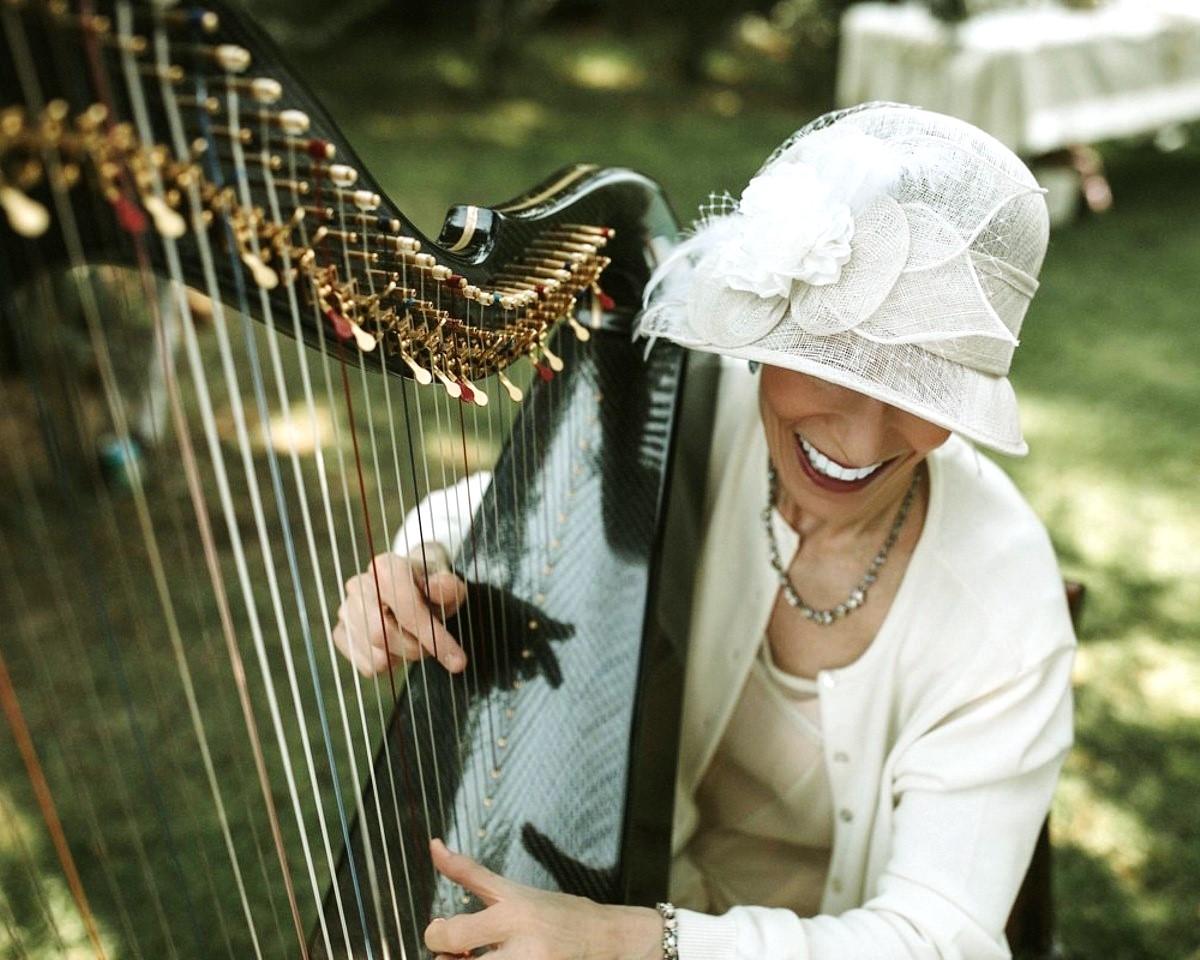 Anne Roos Celtic Harp Lake Tahoe wedding