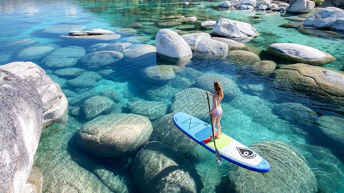 Stand Up Paddle Boarding Lake Tahoe wedding group activities