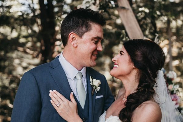 Couple - rustic wedding at Granlibakken Lake Tahoe