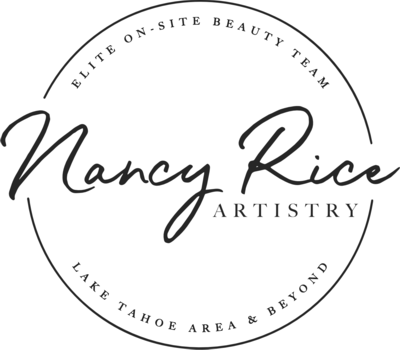 Nancy Rice Artistry logo - hair & makeup for Lake Tahoe weddings