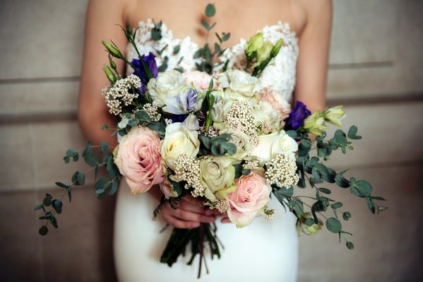 Inspirations by Gina - Lake Tahoe florist - bride with bouquet