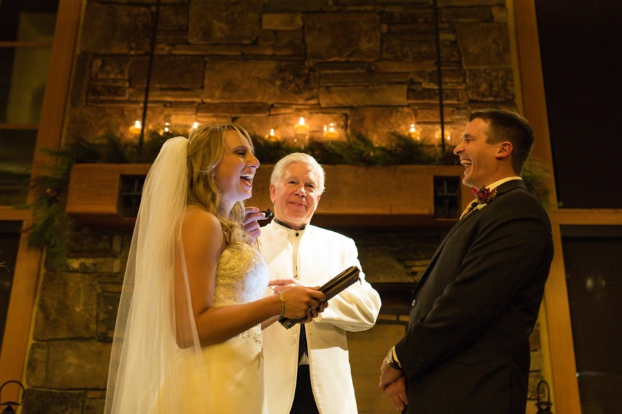 hilarious moment at wedding ceremony officiated by Reverend Mark Frady