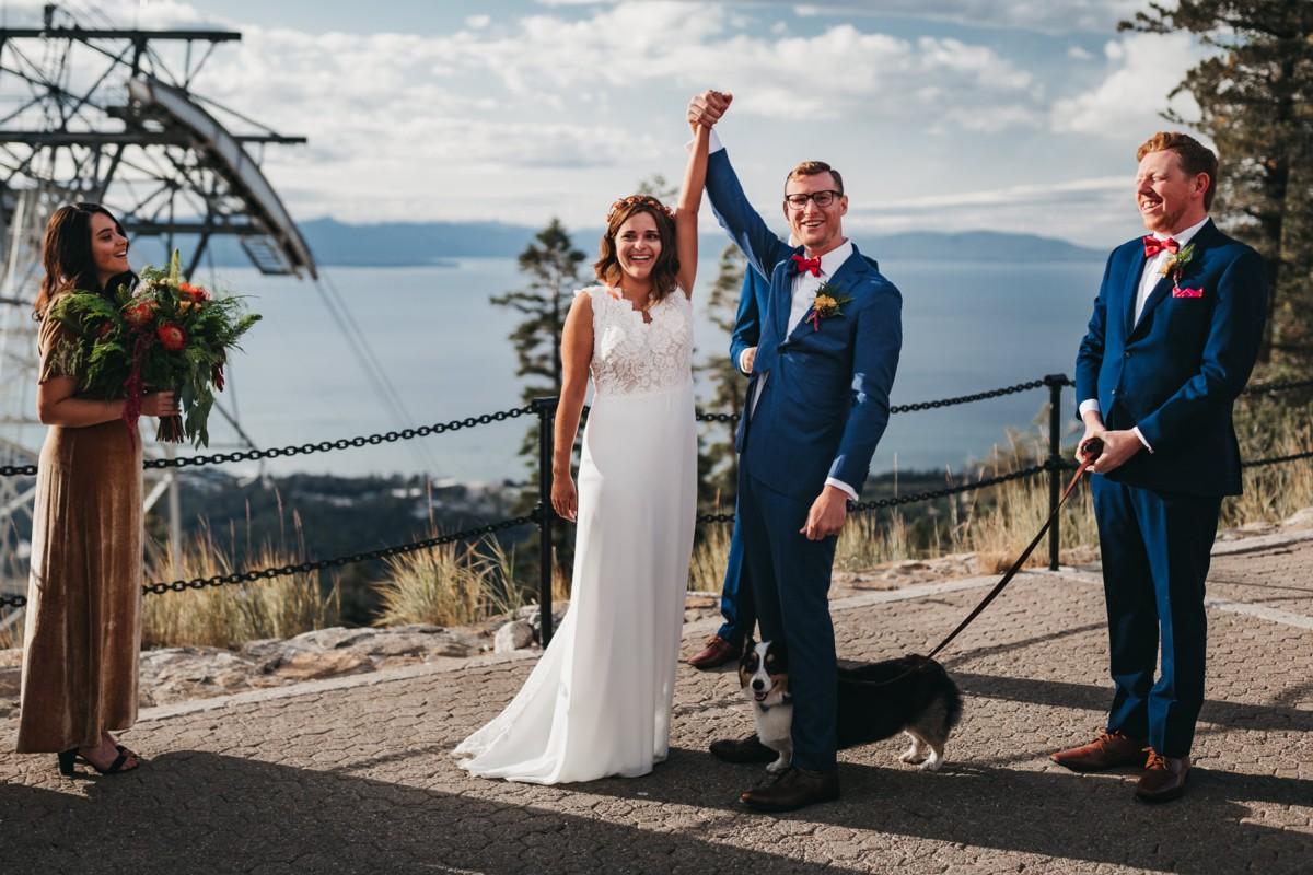 Dog at Heavenly Lake Tahoe wedding