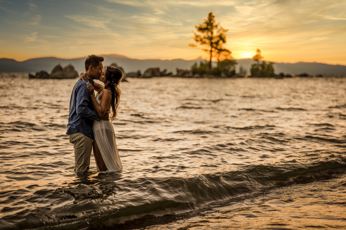Epik Weddings photography - engaged couple in lake - impacts of COVID-19