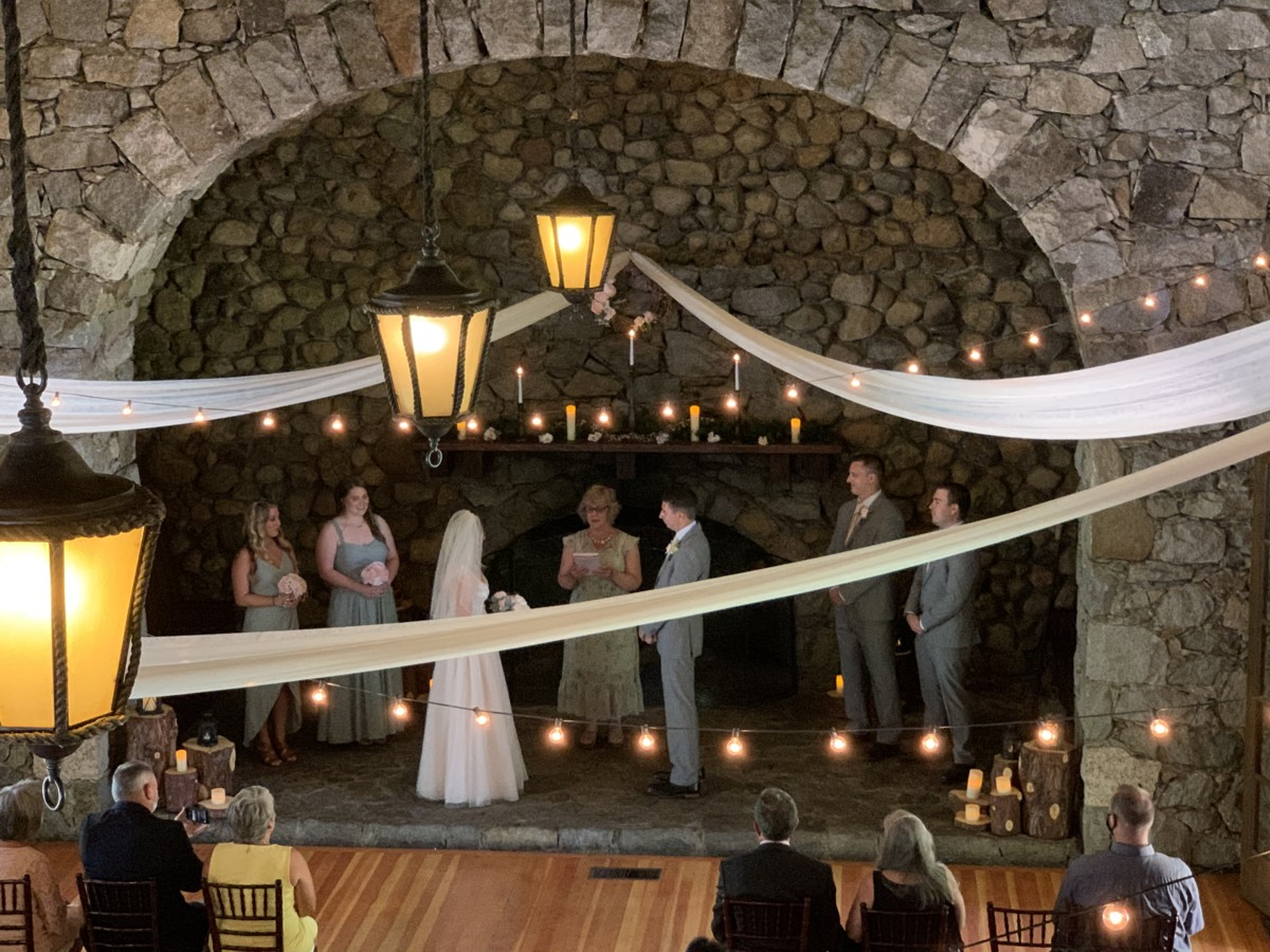 wedding ceremony at Valhalla Lake Tahoe impacted by COVID-19
