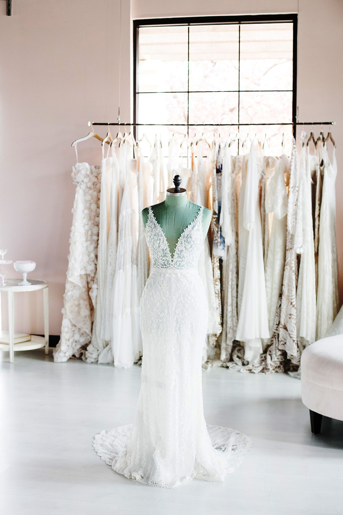 experience trying on a wedding dress at Swoon