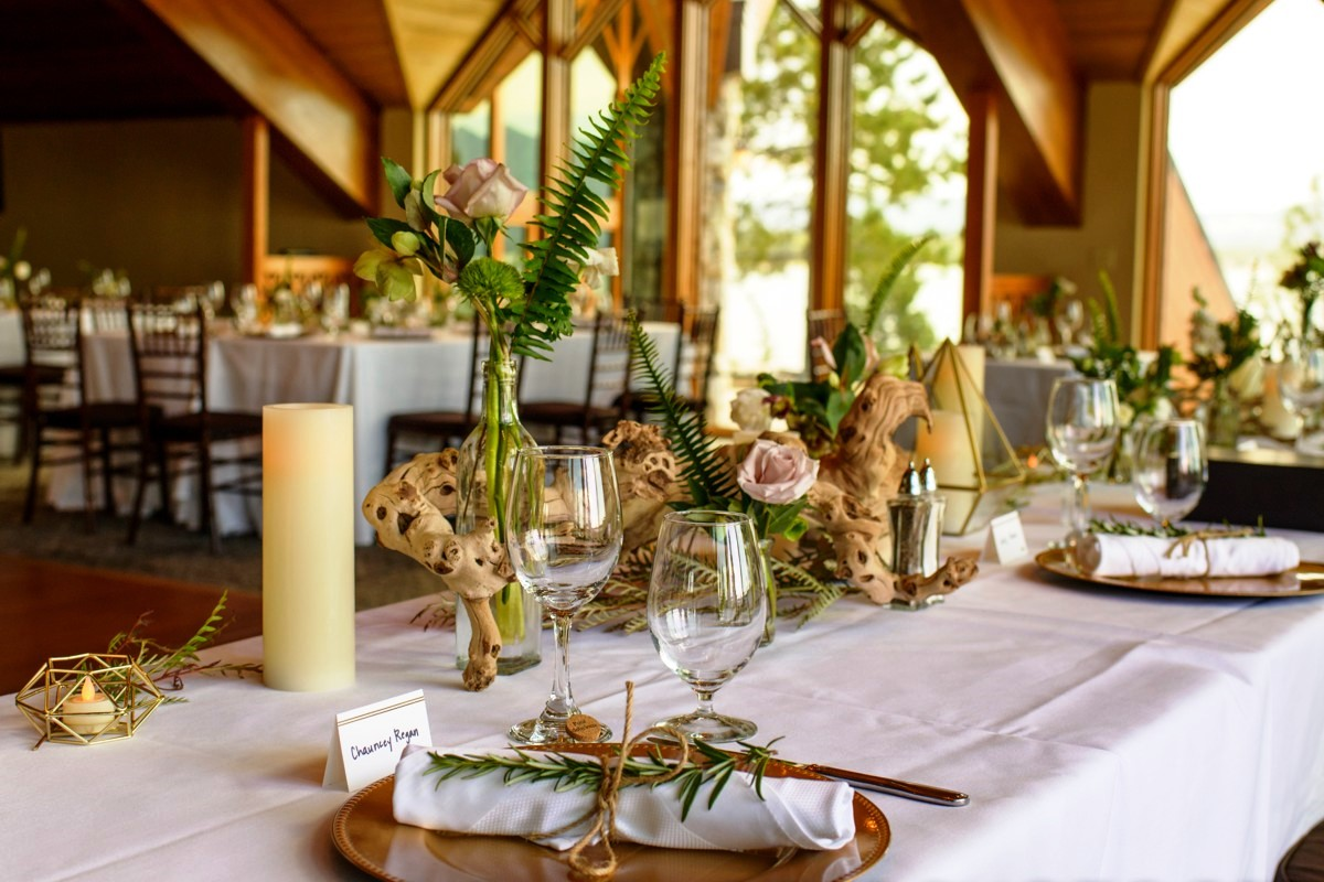 Edgewood Tahoe wedding table decor by Create with T