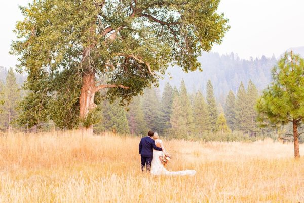 Blanca & Brandon Photography - Lake Tahoe wedding couple in meadow